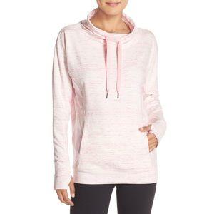 Zella Pink Wilderness Cowl Neck Sweatshirt Large